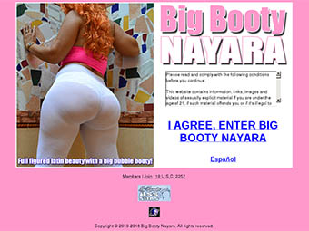 Big Booty Nayara | Full figured latin beauty with a big bubble booty